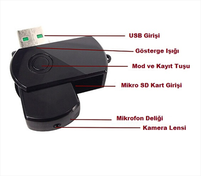 Mini USB Flash Bellek Kamera